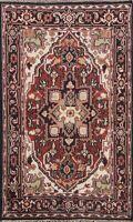 Geometric Indo Heriz Oriental Area Rug Hand-knotted Wool Home Decor 4x6 Carpet