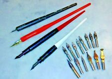 Vintage Antique Lot of Dip Pen Dipping Pens & Nibs for Calligraphy & Writing
