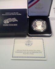 U S Mint 2009 Louis Braille Bicentennial Proof Silver Dollar
