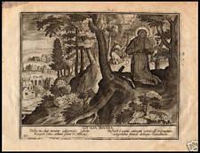 SANTA OTTILIA ODILIA ALSAZIA INCISIONE ORIGINALE 1620