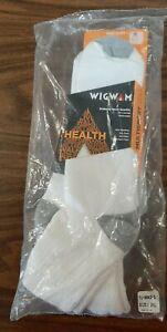 Wigwam Diabetic Sport Quarter Crew Socks (2 Pairs) 2XL NIP