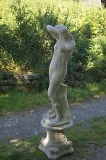 Large Statue Shy Maiden with a plinth  Stone  Garden statue Ornament