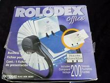 Rolodex Business Card File Open NIB Rotary 200 Sleeves Office Desk Address Fast