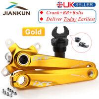 UK Single/Double/Triple 104bcd 170mm Chainring MTB Bike Chainset Crank BB Gold