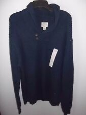 ST JOHNS BAY - MEN - SWEATER - BUTTON COWL - NAVY - SIZE XL   (AC-25-197x2)