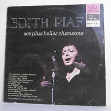 """33T Edith PIAF Vinyle LP 12"""" Vinyl SES PLUS BELLES CHANSONS -FONTANA 826583 RARE"""
