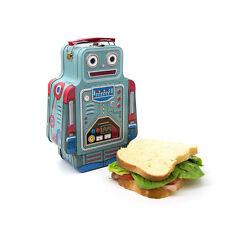 Suck UK Robot Lunch Box Brotdose Blech Essen Roboter Metall Dose