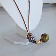 XL Antique African Venetian trade beads 6 lays Chevron Bead Brass Ball necklace