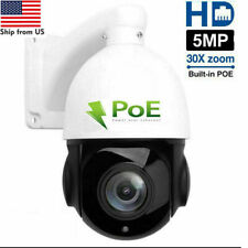 Built-in POE PTZ IP Camera 5MP HD 2592x1944 Pan/Tilt 30x Zoom Speed Dome Cameras