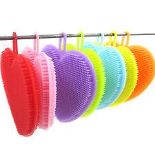 Silicone Dish Washing Brush Pot Pan Dish Bowl Cleaning Kitchen Tools 7 Colours