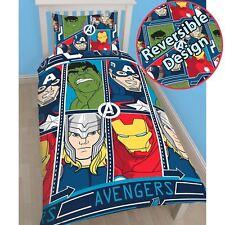 Marvel Avengers Kids Childrens Bedding Duvet Cover Pillowcase Set Single Bed