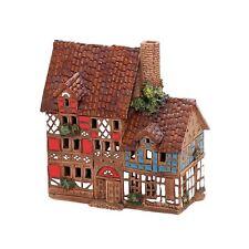 Keramik Teelichthaus Lichterhaus Fachwerkhaus Hand Art Keramik 12 cm 40551