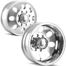 "Front and Rear Set-Ion 167 Dually 16x6 8x165.1/8x6.5"" Polished Wheels Rims"