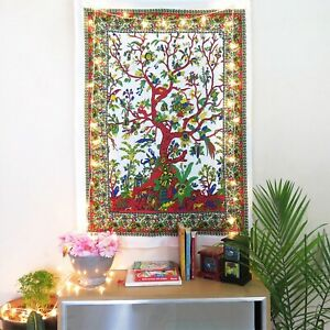Indian Mandala Bedspread Hippie Pure Cotton Tapestry Wall Hanging Rug Room Decor