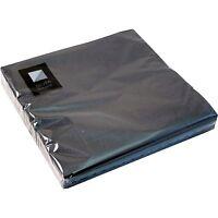 20 x Black 3 Ply Paper Napkins 33cm x 33cm Square Party Serviettes Tableware