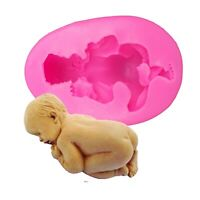 3D Baby Silicone Mold Fondant Cake Chocolate Sugarcraft Mould Decor Baking Tool