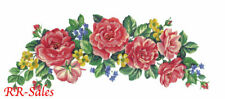 Rose Swag Floral Pink Pastel Bloom Leave Lg Wall Decor Imperial Instant Stencils