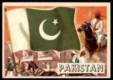 1956 TOPPS FLAGS OF THE WORLD PAKISTAN #72 EX   OTR1X1