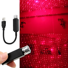 USB Car Interior Atmosphere Star Sky Lamp Ambient Star Light LED Projector Red