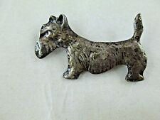 Vintage Sterling Silver Dog Brooch Pin 1930's-1940's Russell Terrier Schnauzer ?