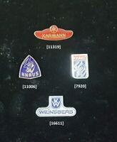 Caravans / Wohnmobile Abzeichen Anstecknadeln 1960er bis 1980er Jahre AUSSUCHEN