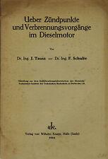 Tausz Schulte, Zündpunkte u Verbrennungs-Vorgänge Dieselmotor lange vor VW, 1924