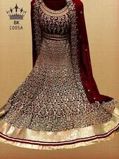 DESIGNER HEAVY DIAMOND JHUMKA WORK BRIDAL LEHENGA INDIAN WEDDING GHAGRA CHOLI G1