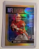 2019 John Elway Absolute NFL Icons Spectrum Gold PARALLEL CARD#8 #10/10 RARE!!!