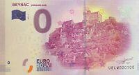 BILLET 0  EURO  BEYNAC PERIGORD NOIR FRANCE  2017  NUMERO 100
