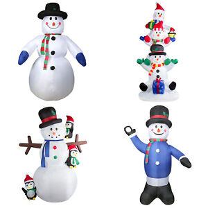 Led Schneemann Beleuchtet Aufblasbar Weihnachtsfigur deko außen groß beleuchtung