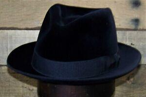 Vintage Borsalino Fur Velour Fedora Hat (5 1/2 French/Punti)