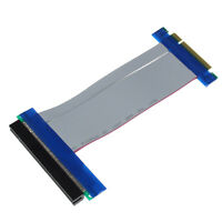 PCI-E 8X To 16X Riser Card Ribbon Extender Extension Cable Cord Adapter Tide