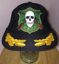 VTG SADF South African Defense Force SKULL Logo Patch Trucker Hat Cap Snapback