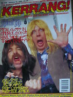 KERRANG 375 - SPINAL TAP - THE CULT - AC/DC - DEF LEPPARD