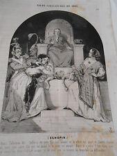 Litho Caricature 1843 Salomon mon fils est vivant et le votre mort