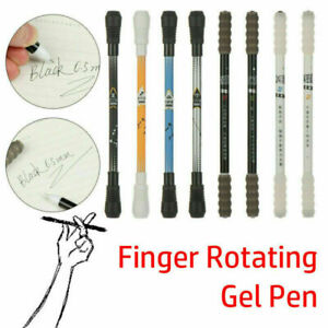Non Slip Pen Coated Spinning Ballpoint Gaming Rolling New Rotating CA