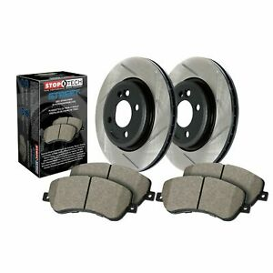 StopTech For Jeep Grand Cherokee / Disc Brake Pad and Rotor Rear Kit - 937.58505