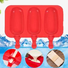 Pop Mold DIY Popsicle Maker Lolly Frozen Tray Ice Cream Mould Jelly+ 20X Sticks