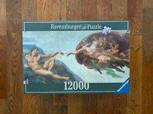 NEW RARE Ravensburger 12000 THE CREATION OF ADAM Jigsaw Puzzle Michelangelo