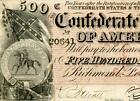 HGR FRIDAY 1864 $500 Confederate ((Rebel Flag)) Only LIGHTLY CIRCULATED