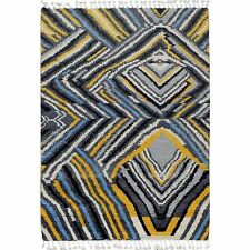 Abstract Moroccan Gabbeh Oriental Area Rug Hand-Knotted Modern Plush Carpet 4x6