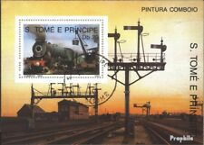 Sao Tome e Principe block214 (complete issue) used 1989 Locomot