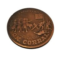Tombstone OK Corral 1881 Gunfight Coin Solid Copper With Antique Finish