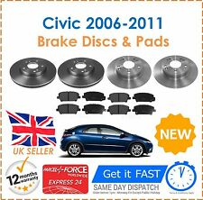 Brake Discs And Pads Front & Rear For Honda Civic 1.8 2.2 CDTi 2006-2011 New