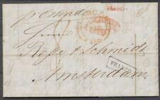 BRIEF LONDEN-AMSTERDAM,1855,  ROOD FRANCO ZONDER KASTJE+ZWART MET KASTJE,  Ab285