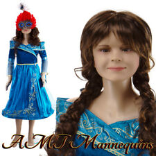 Female display Mannequin+metal stand,Full body,X'mas, abt11yrsOld  Girl CB2+1Wig