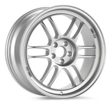 15x8 Enkei RPF1 4x100 +28 Silver Rims Fits 4 Lug Civic Jetta Miata Xb Ek