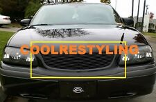 For 2000~05 Chevy Impala Black Billet Grille Grill Insert Replacement