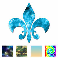 Fleur De Lis - Vinyl Decal Sticker - Multiple Patterns & Sizes - ebn318