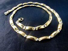 """18K White/Yellow Gold Unique Women's Necklace--18""""L.   SAVE $1,800.  #412"""